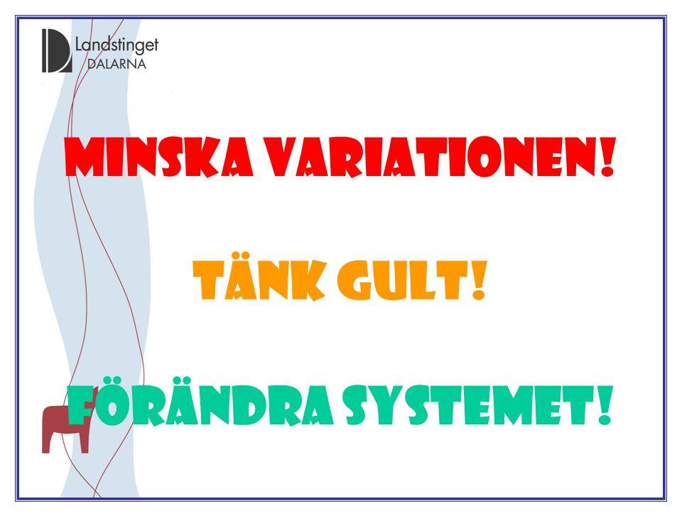 Jörgen Bond 2009.01.29 Minska variationen! Förändra systemet! Tänk gult!