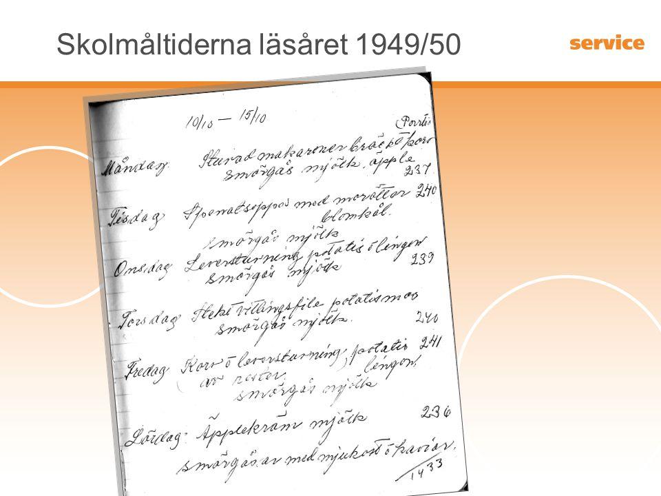 Kungsbacka kommun Skolmåltiderna läsåret 1949/50