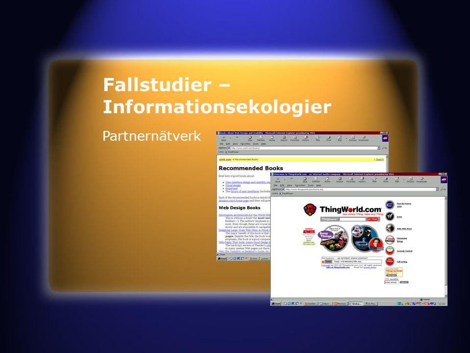 Fallstudier – Informationsekologier Partnernätverk