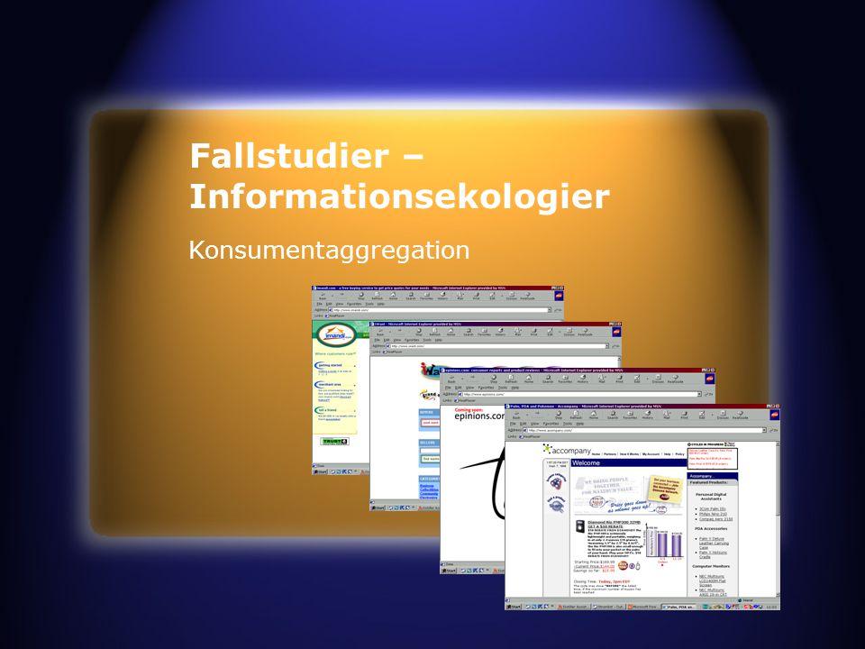 Fallstudier – Informationsekologier Konsumentaggregation