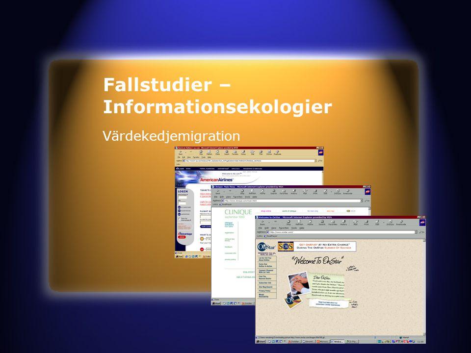 Fallstudier – Informationsekologier Värdekedjemigration