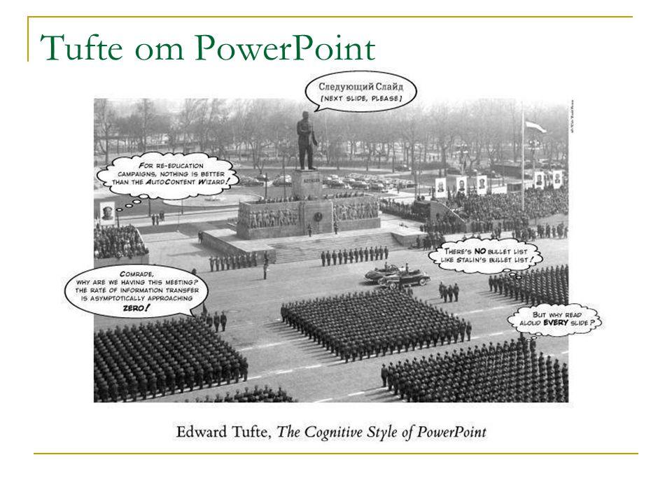 Tufte om PowerPoint