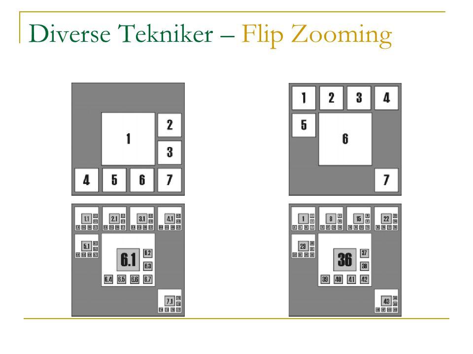 Diverse Tekniker – Flip Zooming