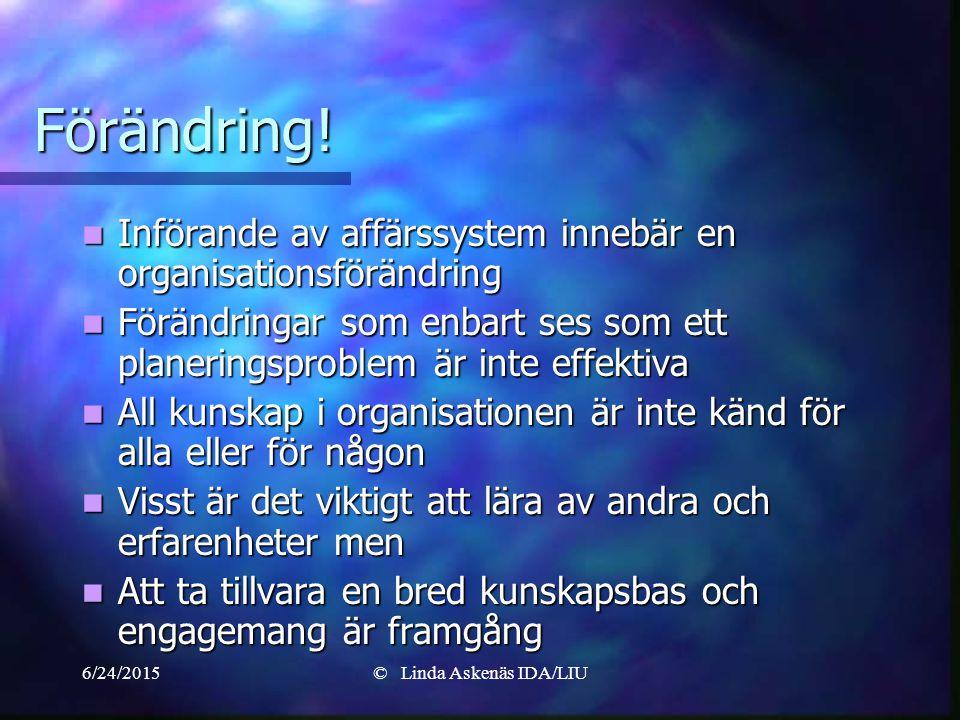 6/24/2015© Linda Askenäs IDA/LIU Förändring.