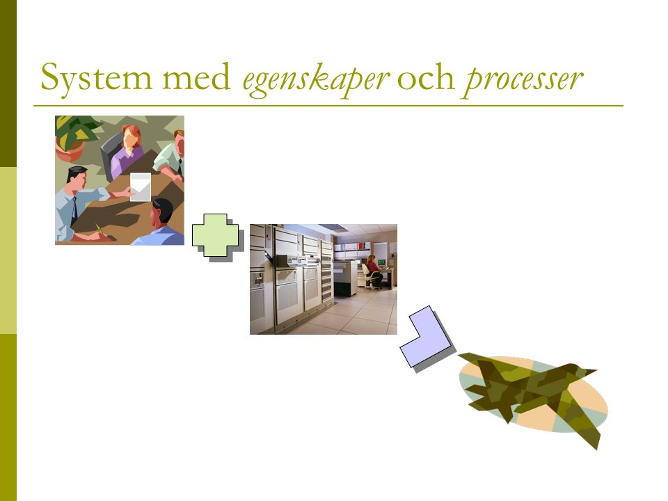 System med egenskaper och processer