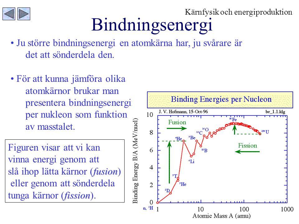 9 Radioaktivitet När radioaktiva kärnor spontant sönderdelas så sänds olika partiklar ut.