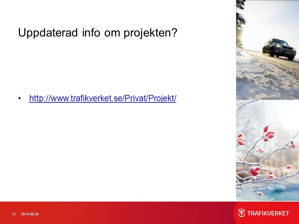212015-06-25 http://www.trafikverket.se/Privat/Projekt/ Uppdaterad info om projekten