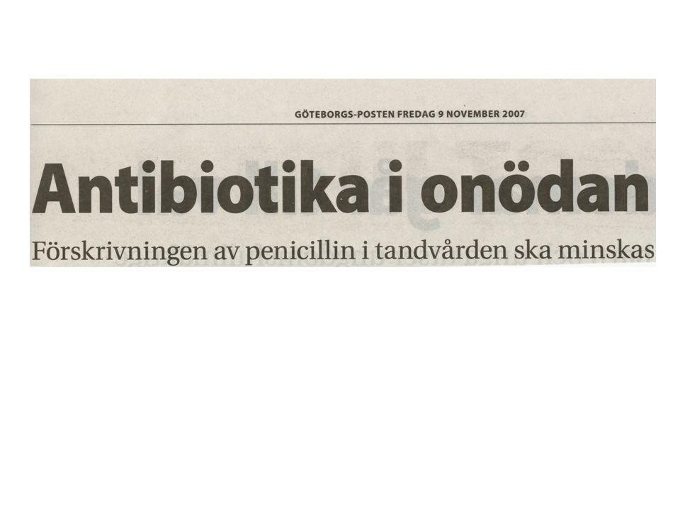 Johan Blomgren, övertandläkare johan.blomgren@vgregion.se Ulrica Dohnhammar, leg apotekare ulrica.dohnhammar@strama.se Antibiotikaanvändning inom tandvården - dags att införa Strama-arbete?