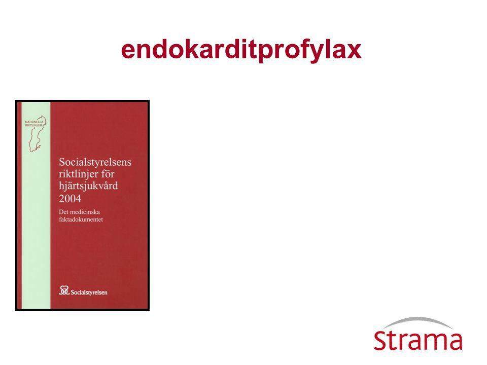 Hjärtklaffsprotes, hjärtklaffskirurgi Bakteriell endokardit i anamnesen Svår hjärtklaffssjukdom