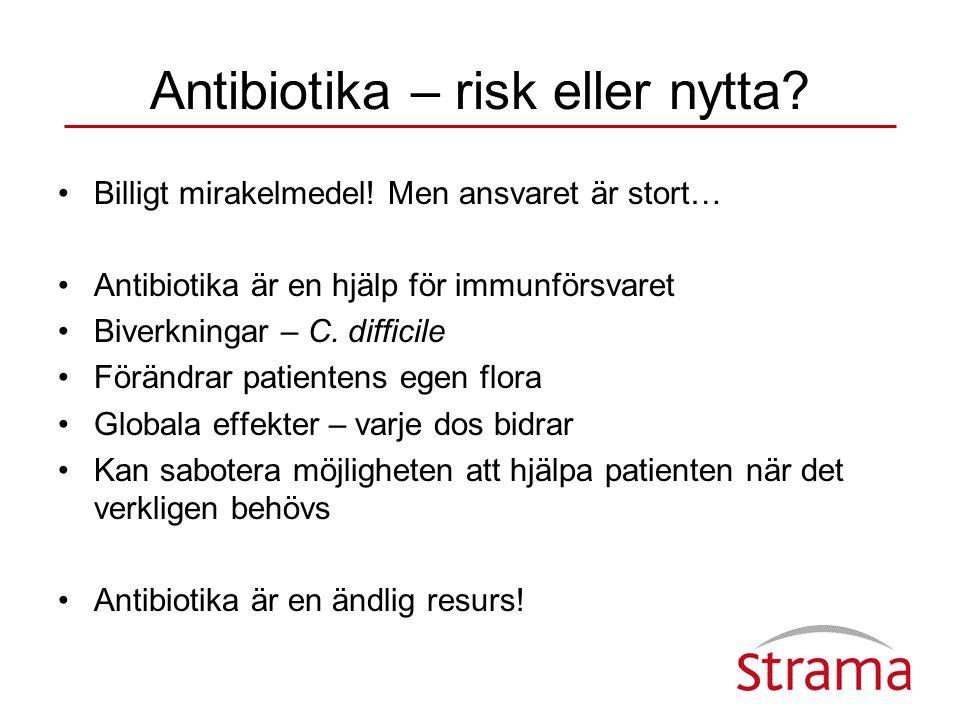Tandläkares antibiotikaförskrivning i öppenvård 2000 – 2006, definierade dygnsdoser/1000 invånare och dag Källa: Apoteket AB