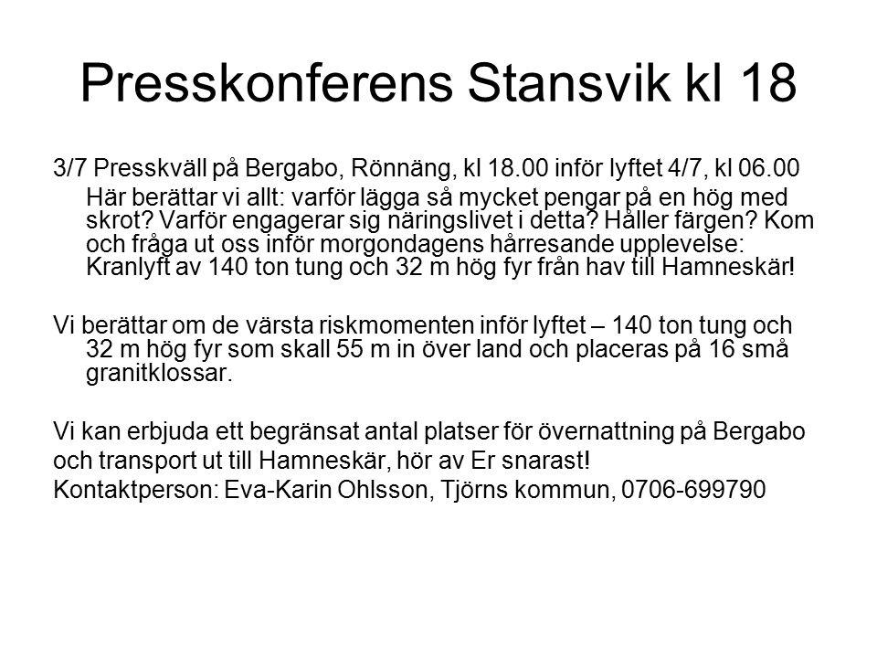 Pater Noster tillbaka till Hamneskär och en nyrestaurerad fyrmiljö,snart öppen för besök Här serveras en bit mat!Här ligger Samson med fyren
