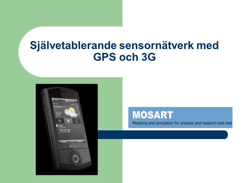 Självetablerande sensornätverk med GPS och 3G