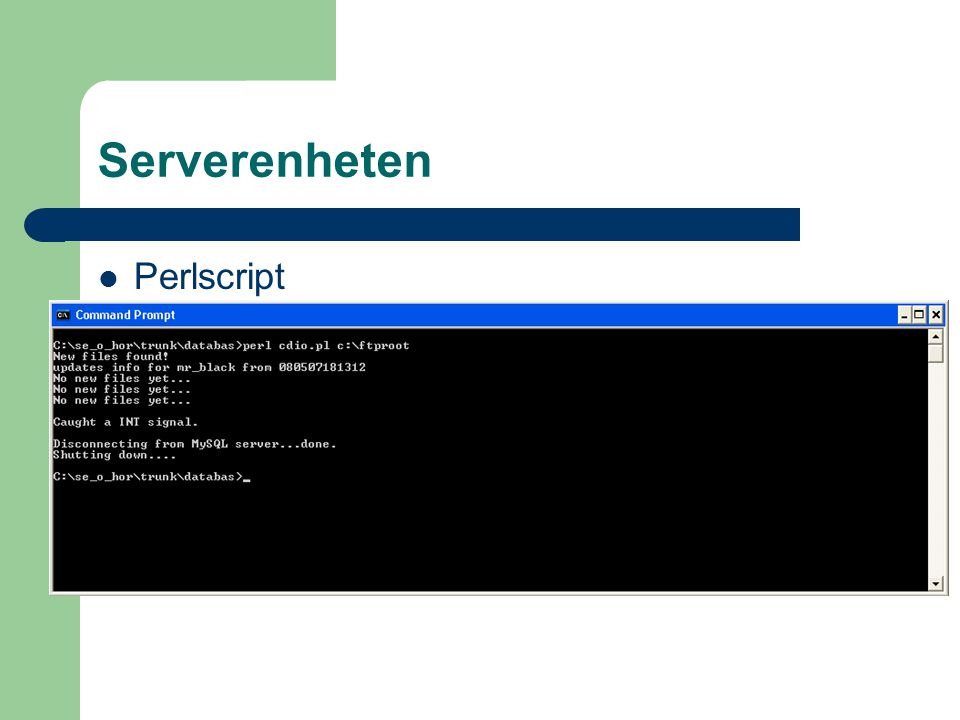 Serverenheten Perlscript