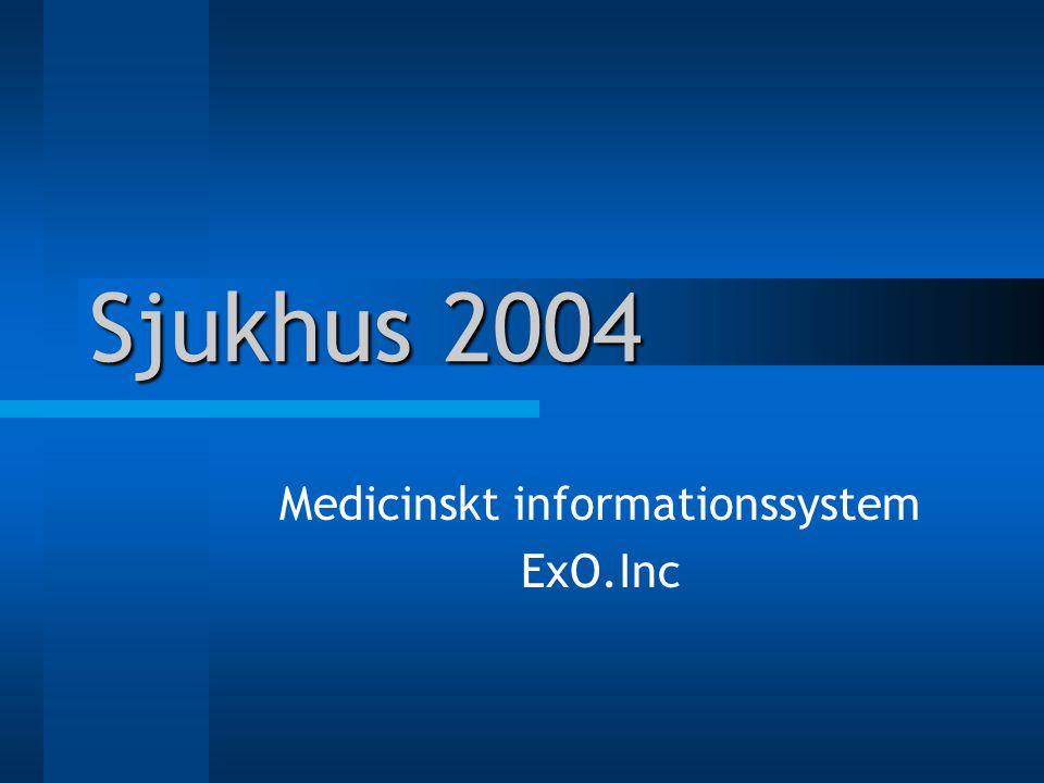 Sjukhus 2004 Medicinskt informationssystem ExO.Inc