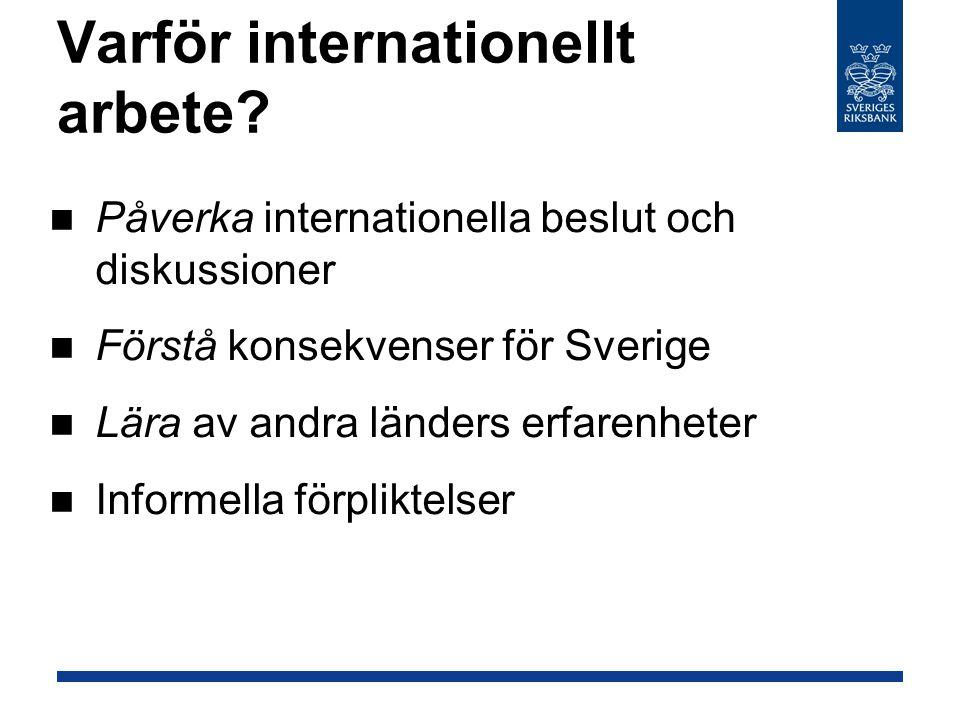 Varför internationellt arbete.