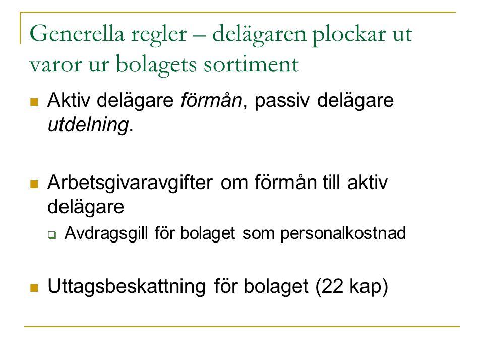 Exempel: uttag av varor ur butik Förutsättningar:  Inköpspris 300 kr, marknadsvärde inkl.