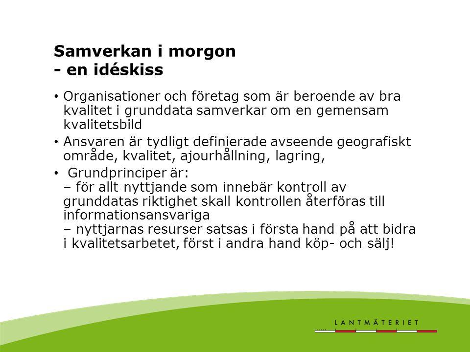 Zonindelning av kommunen utifrån databaskvalitet och ansvar Blått = primärkarteområden Rött = landsbygdsbyar Övriga områden = Områden med areell produktion, naturskydd etc.