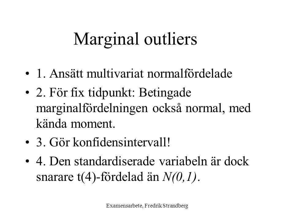 Examensarbete, Fredrik Strandberg Marginal outliers 1.