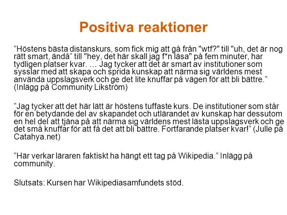 …men även skeptiska Varför inte en kurs om Community Likström, 7.5 hp.