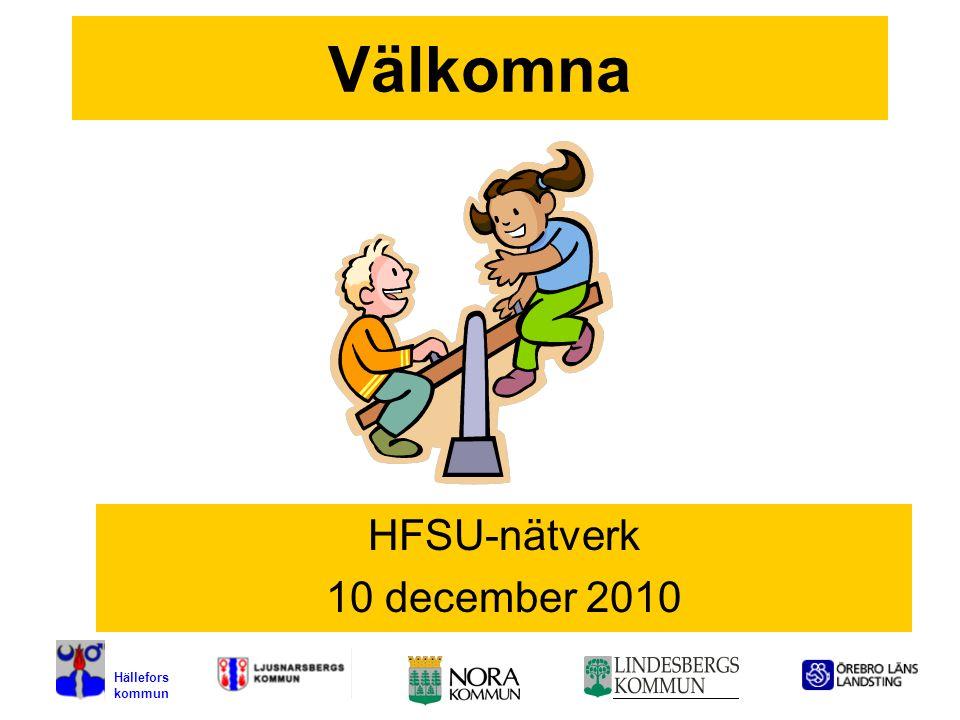 1 Välkomna HFSU-nätverk 10 december 2010 Hällefors kommun