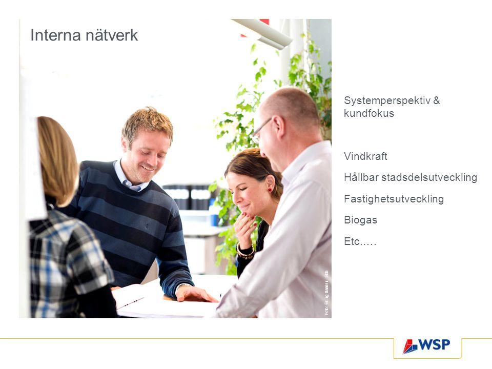 Interna nätverk Systemperspektiv & kundfokus Vindkraft Hållbar stadsdelsutveckling Fastighetsutveckling Biogas Etc.…. Foto: Erling Baasen Eide