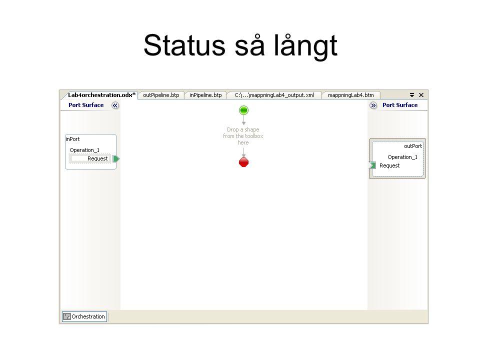 Status så långt