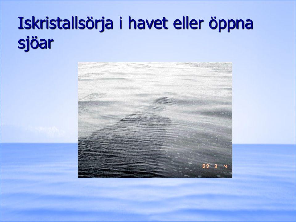 Iskristallsörja i havet eller öppna sjöar
