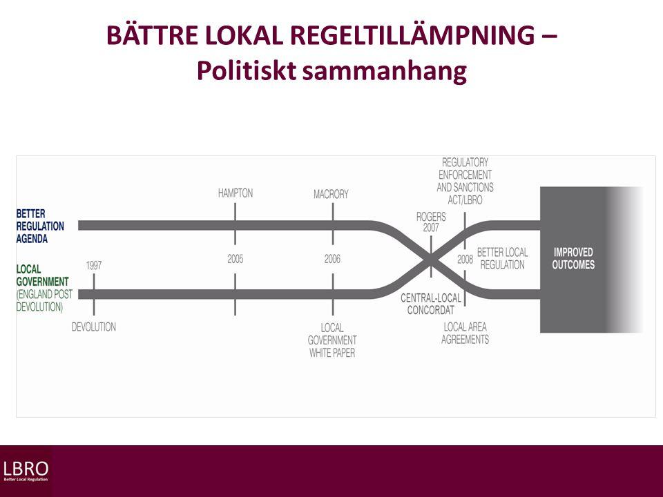 BÄTTRE LOKAL REGELTILLÄMPNING – Politiskt sammanhang