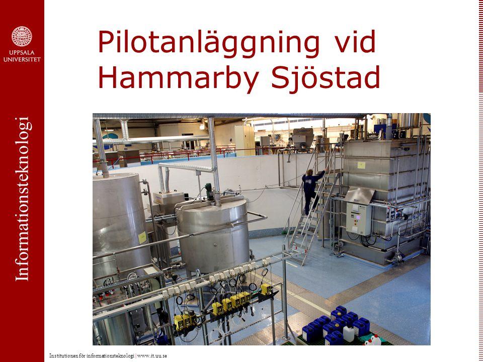 Informationsteknologi Institutionen för informationsteknologi | www.it.uu.se Pilotanläggning vid Hammarby Sjöstad