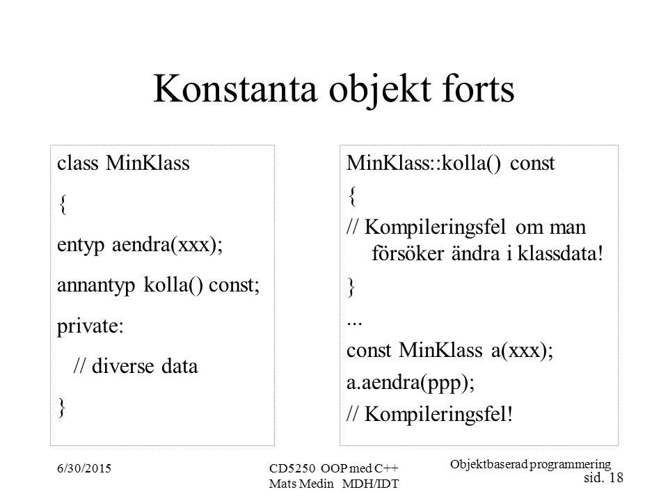 Objektbaserad programmering sid.