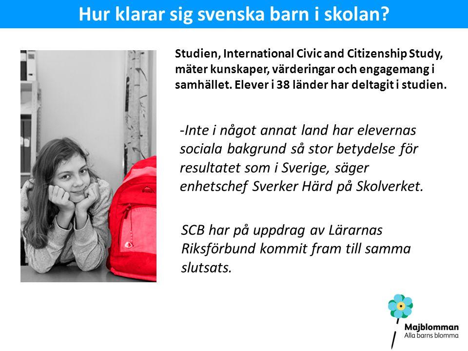 -Inte i något annat land har elevernas sociala bakgrund så stor betydelse för resultatet som i Sverige, säger enhetschef Sverker Härd på Skolverket.