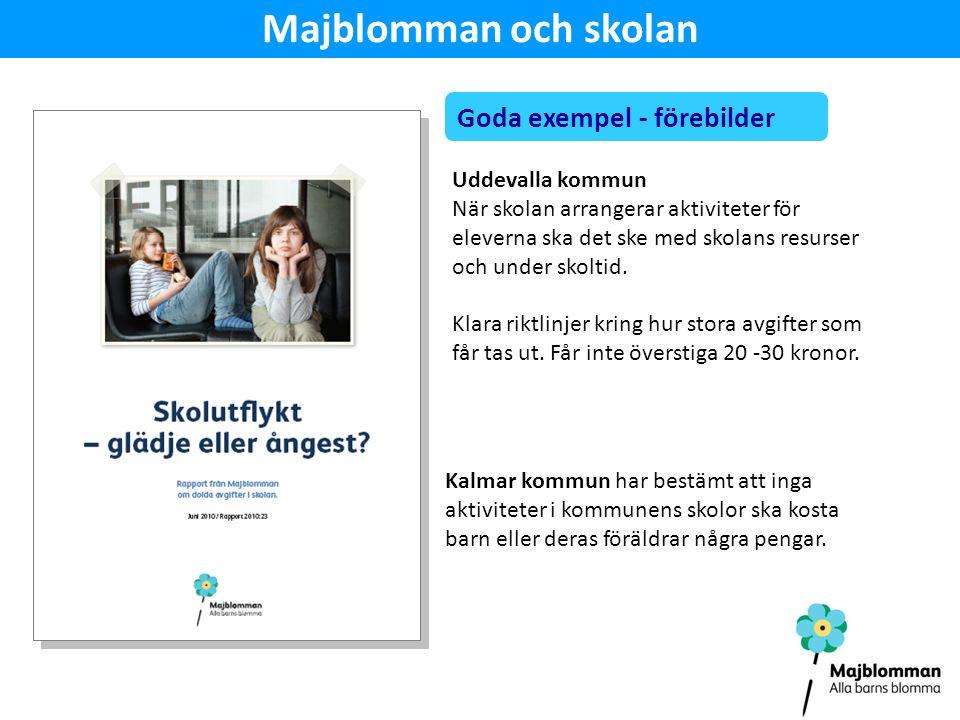Majblomman och skolan Uddevalla kommun När skolan arrangerar aktiviteter för eleverna ska det ske med skolans resurser och under skoltid.