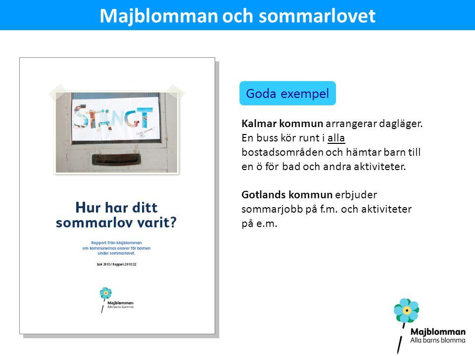 Majblomman och sommarlovet Goda exempel Kalmar kommun arrangerar dagläger.