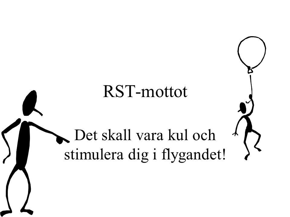 RST-mottot Det skall vara kul och stimulera dig i flygandet!
