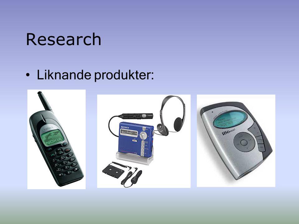 Research Liknande produkter: