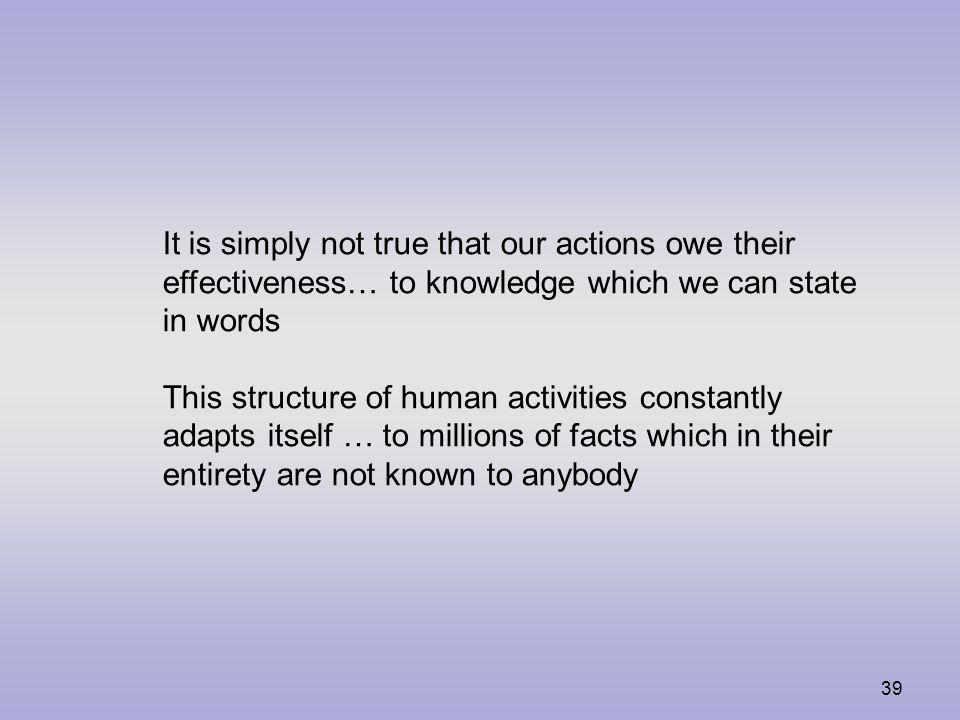 38 Wittgensteins språkteorier Bildteorin: Satser fungerar som bilder där orden symboliserar objekt och satsen har samma struktur som verkligheten.