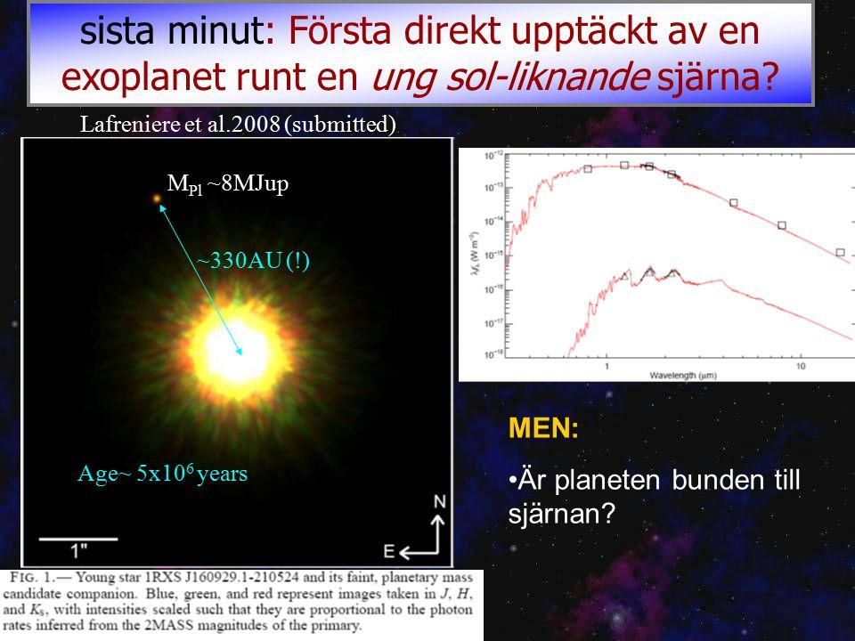 sista minut: Första direkt upptäckt av en exoplanet runt en ung sol-liknande sjärna.