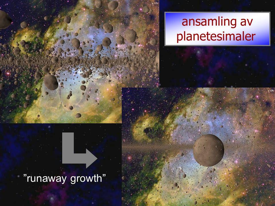 ansamling av planetesimaler runaway growth
