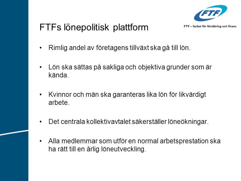 FTFs lönepolitisk plattform Rimlig andel av företagens tillväxt ska gå till lön.