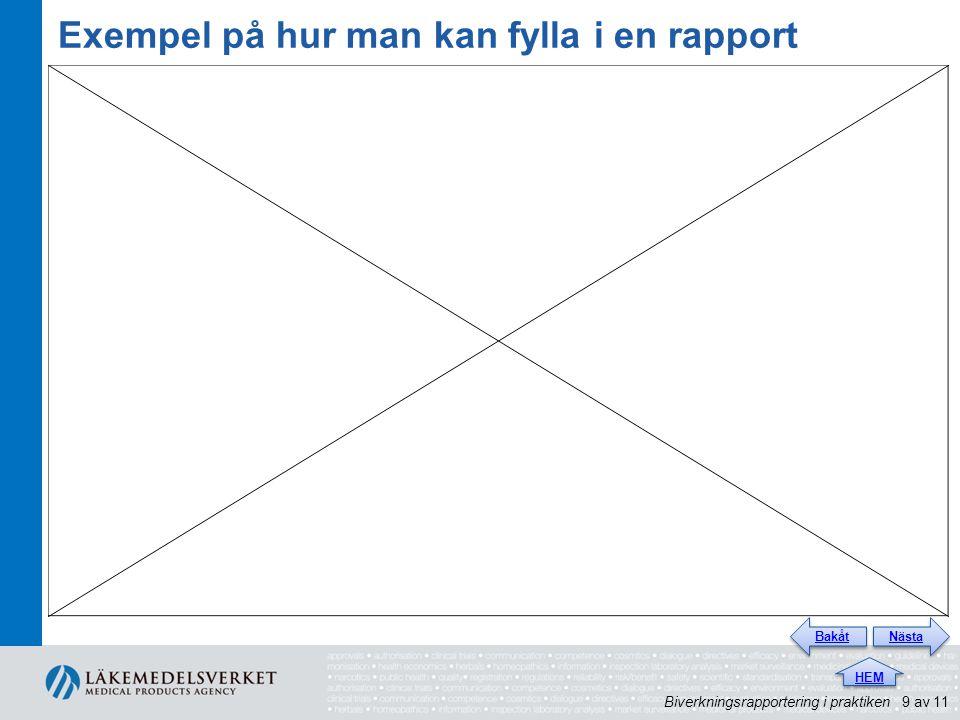 Exempel på hur man kan fylla i en rapport Bertils film här, förstorad så att den täcker hela rutan.