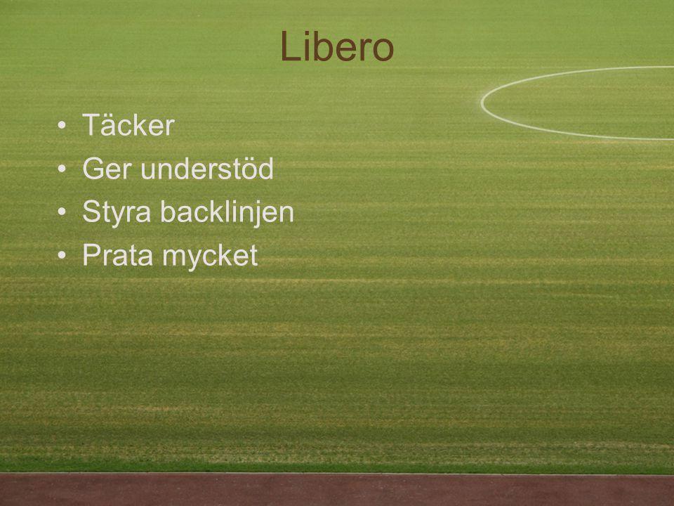 Täcker Ger understöd Styra backlinjen Prata mycket Libero