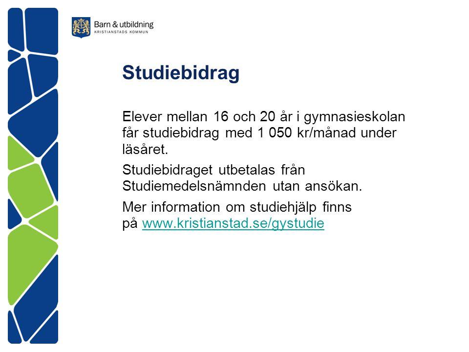 Österänggymnasiet Exp tel 044-13 65 02 www.kristianstad.se/osteranggymnasiet Läsåret 2015/2016 börjar tisdagen 18 augusti.