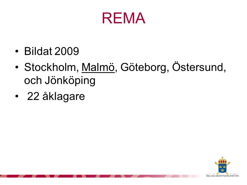 Bildat 2009 Stockholm, Malmö, Göteborg, Östersund, och Jönköping 22 åklagare REMA