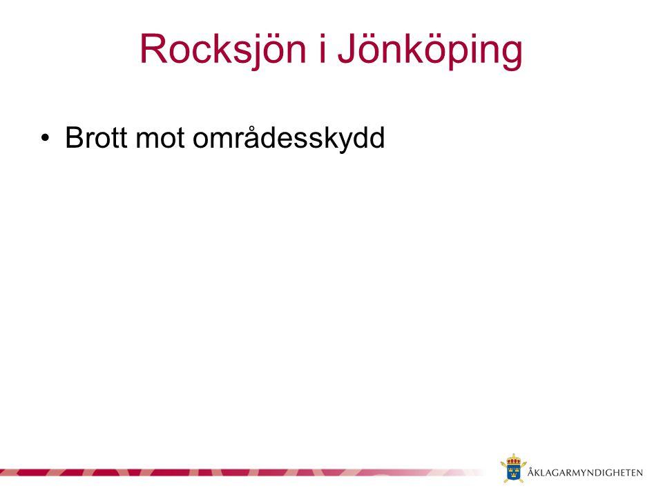 Rocksjön i Jönköping Brott mot områdesskydd