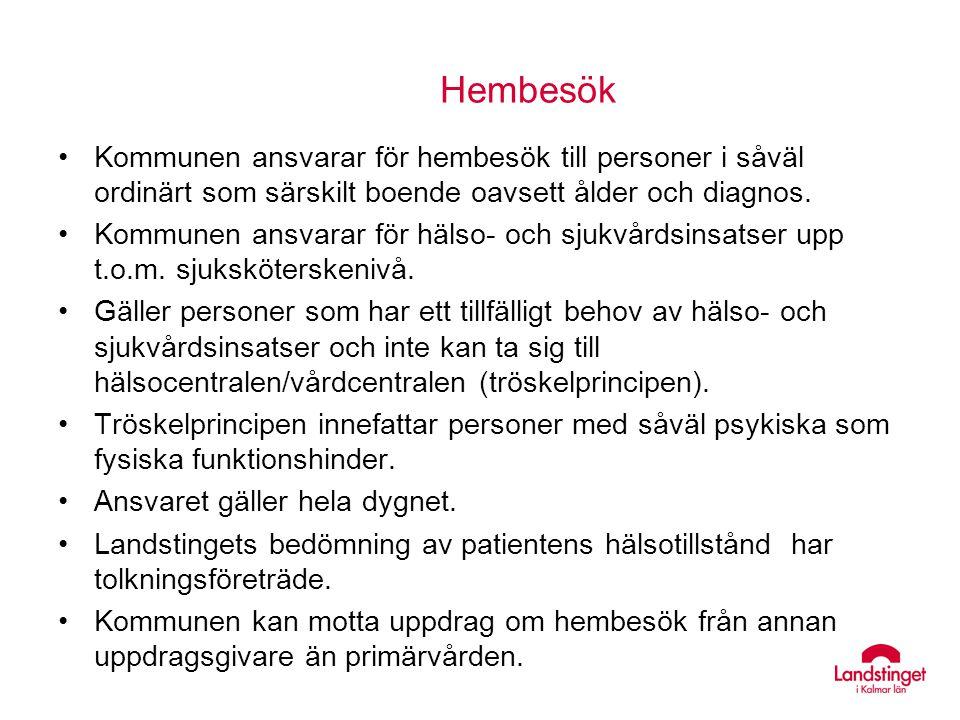 Delegering Delegering kan ske över huvudmannagränserna, SOSFS 1997:14.