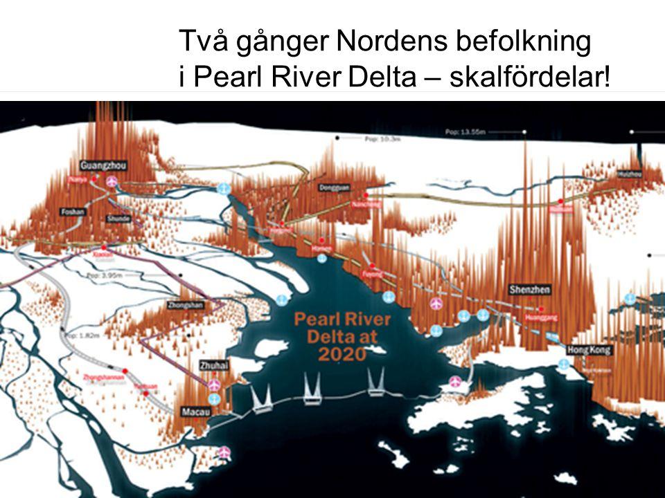 Två gånger Nordens befolkning i Pearl River Delta – skalfördelar!