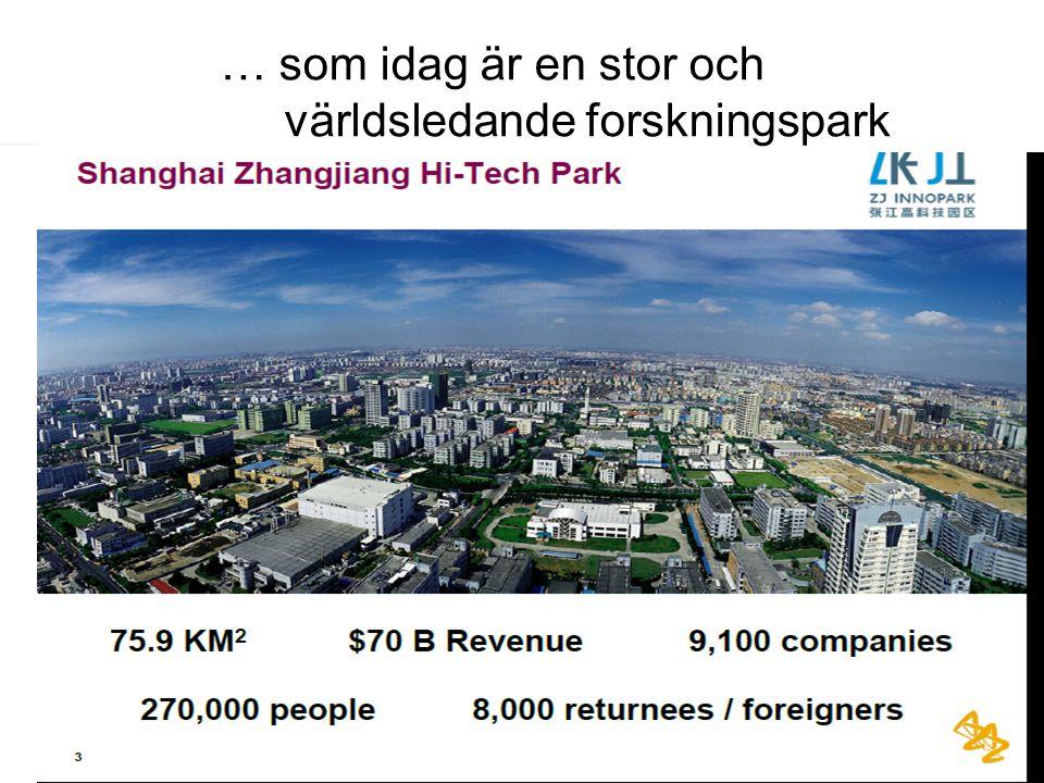 … som idag är en stor och världsledande forskningspark
