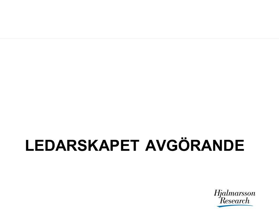 LEDARSKAPET AVGÖRANDE