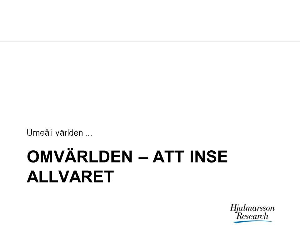 OMVÄRLDEN – ATT INSE ALLVARET Umeå i världen...