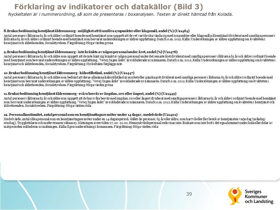 39 8.Brukarbedömning hemtjänst äldreomsorg - möjlighet att framföra synpunkter eller klagomål, andel (%) (U21464) Antal personer i åldrarna 65 år och